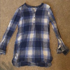 Old navy plaid top long sleeve